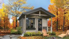 Timber Block is happy to support the Tiny Home Movement. See tiny house floor plans and designs in both our Contemporary and Classic home series. Find out why Tiny Homes are popular for many homeowners across the country. Tiny House Plans, House Floor Plans, Cabin Homes, Log Homes, Small Cottages, Energy Efficient Homes, Tiny House Movement, Classic Series, Classic House
