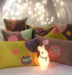 Jeanette Cloum pour petites pillows #bunnyinabow