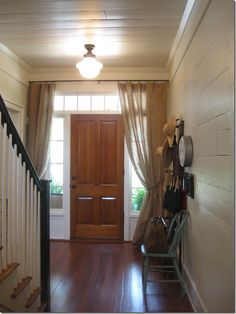 Southern Living House 2012 Senoia GA   Love The Burlap Curtain Over The  Door, Great