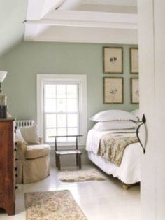 40 Beauty Green Bedroom Design Decor Ideas Bedroomdecoratingideas with regard to Sage Green Bedroom Ideas Green Bedroom Walls, Green Master Bedroom, Green Bedroom Design, Sage Green Bedroom, Sage Green Walls, Bedroom Small, Green Bedroom Colors, Light Green Walls, Green Bedroom Decor