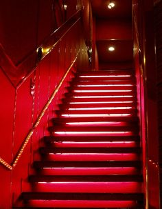 Color Me Staircase Etched in Gold ~ Red Red Aesthetic Grunge, Aesthetic Colors, Aesthetic Pictures, Maroon Aesthetic, Aesthetic Food, Bar Deco, I See Red, Simply Red, Red Rooms