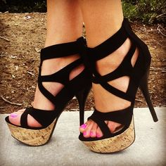 cage platform heels #gojane #cage #platforms #heels #sotd #shoes #onlineshopping #sexy #party #gno #pinktoes #instanails #neonpink #peeptoe #style #instadaily #instafashion #fashion #haute