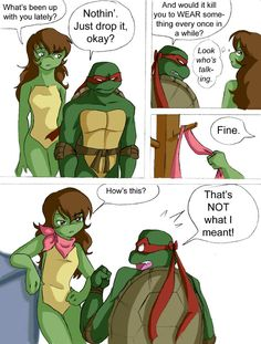 This was a doodle from work. Not my best work. But losely based on the fanfic my sister and I are working on. The turtles knew Mona Lisa while she was still human. So when she turns into her lizard...