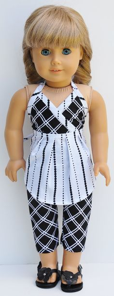 American Girl Clothes  Black & White by LoriLizGirlsandDolls, $24.00