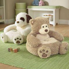 Kids Plush Animal Chair from One Step Ahead Stuffed Animal Bean Bag, Giant Stuffed Animals, Siege Bebe, Soft Seating, Plush Animals, Animals For Kids, Kids Furniture, Furniture Chairs, Bean Bag Chair