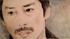 "@LaraDelPizzo: ""I've done terribile things in the name of science..play God pay the Price ""#HiroyukiSanada #watercolor #真田広之 #Helix #love #realism #acquerello #portrait"