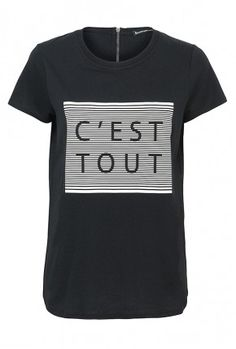 zwart t-shirt met print
