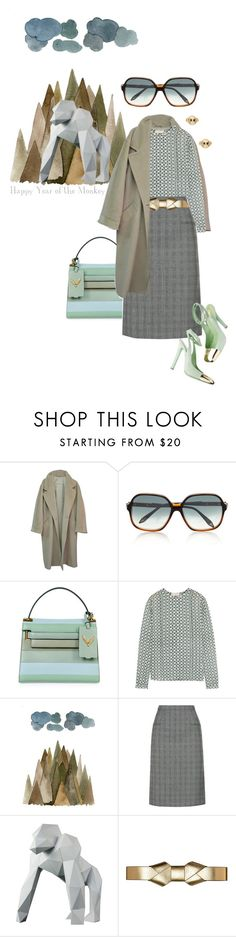 """""""year of the monkey"""" by bananya on Polyvore featuring MaxMara, Victoria Beckham, Valentino, Tory Burch, Alexander McQueen, Yves Saint Laurent, Marni, Kate Spade, satchel and Trench"""