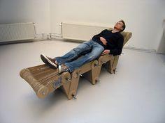 cardboard chaise longe