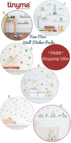 New Tinyme Wall Stickers: Now In Mini Sizes - FREE Postage On All Orders *No Minimum Spend*