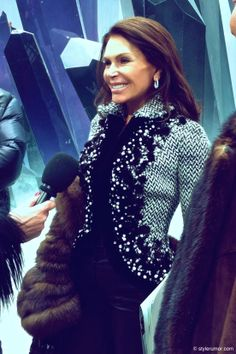 Mouna Ayoub at the Chanel Fall Winter 2012 Collection.