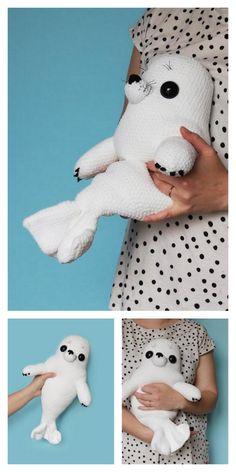 Amigurumi Baby Seal Free Pattern – Amigurumi Free Patterns And Tutorials Crochet Animal Patterns, Stuffed Animal Patterns, Crochet Patterns Amigurumi, Crochet Animals, Crochet Dolls, Cute Crochet, Crochet Crafts, Crochet Projects, Knitting Projects