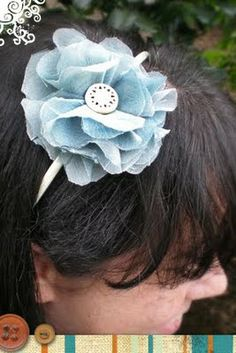 Design by Night: Flouncy Flower Headband How-to