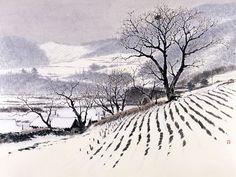 132CC7164B0158BF6B619F (400×300) Painting Snow, Winter Painting, Ink Painting, House Painting, Watercolor Paintings, Snow Scenes, Winter Scenes, Korean Painting, India Ink
