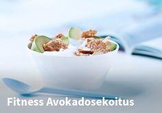 Fitness Avokadosekoitus Resepti: Nestle Fitness #kauppahalli24 #ruoka #resepti #avokado