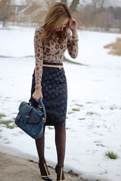 Lilly's Style: dots and leopard-great blog, she tells where clothes are from