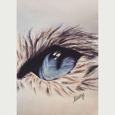 Cat Eye. Penna su matita. #CatEye #Art #myArt ©