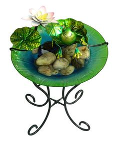 Love this Mini Frog Fountain on #zulily! #zulilyfinds