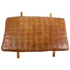 1950s Leather Gym Mat | See more antique and modern Daybeds at https://www.1stdibs.com/furniture/seating/day-beds
