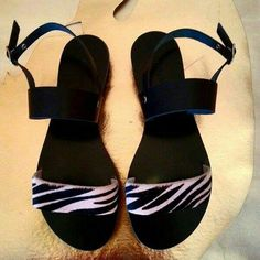 Black/pink ponyskin with black leather Facebook:alessandrasandals