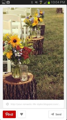 Something like this is brilliant because the flowers from the ceremony move easily to the table tops