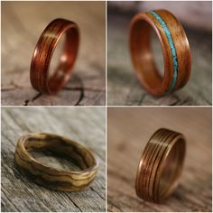Beautiful men's wedding rings.  I have seen some really awesome rings at our elopement ceremonies. #staroftxbb