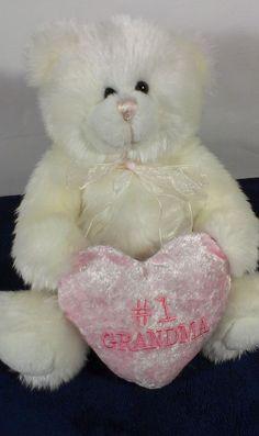 "Berkeley Designs Teddy Bear #1 GrandMa Grandmother Stuffed Plush Pink Heart 12""  #BerkeleyDesigns"