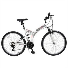 "13974 sporting-goods Stowabike 26"" MTB V2 Folding Dual Suspension 18 Speed Gears Mountain Bike White  BUY IT NOW ONLY  $139.99 Stowabike 26"" MTB V2 Folding Dual Suspension 18 Speed Gears Mountain Bike White..."