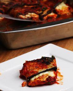 Cheesy Eggplant Roll-Ups