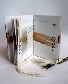 A Bundle of Inspiration / walnut ink, bits of ink and pieces of decorated paper -by Kim Henkel