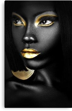 Pin by audrey shireman on face art art, makeup art, black women art. African Beauty, African Art, African Paintings, Art Paintings, Art Visage, Make Up Art, Foto Art, My Black Is Beautiful, Beautiful Body