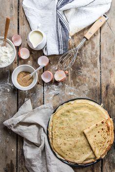 Finir le week end en beauté ✨ Food Photography Styling, Food Styling, Crepes Party, Crepe Batter, Crepe Recipes, Vegan Baking, Dessert, Food Inspiration, Sweet Recipes