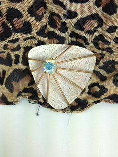 Awesome 60s MOD Rhinestone and metal funky by VintageSoulGeek, $6.50