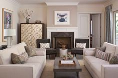 Looking for Gray Contemporary Living Space and Living Room ideas? Browse Gray Contemporary Living Space and Living Room images for decor, layout, furniture, and storage inspiration from HGTV. Living Room Grey, Formal Living Rooms, Home And Living, Living Spaces, Modern Living, Living Room Inspiration, Interiores Design, Great Rooms, Elegant