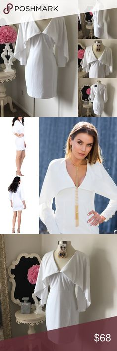 🌺 MKC -Marisa Kenson Collection Cape Style Dress 🌺 MKC - Marisa Kenson Collection  Beautiful Cape Style Dress -Mini Skirt Style -  Quarter Sleeve w/ V- Neckline Design - Back Zipper - Gold Buttons - Dress is Lined    $89 New w/Tag  - Reg: $142  Size : Medium & Large Fabric : 96% Polyester - 4% Spande 🌺 Accessories Not Included But Are also for Sale  Please Check out my Other Items in my GIRLe B Posh Shoppe'  Like us on FB   www.facebook.com/girleboutique Thanks For Looking & Always Let…