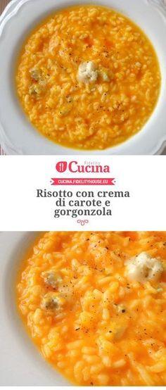 Risotto con crema di carote e gorgonzola della nostra utente Magdalena. Unisciti alla nostra Community ed invia le tue ricette!