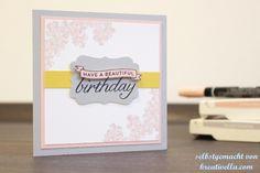 """Minikarte zum Geburtstags mit dem Set """"Birthday Blossom"""" von Stampin' Up!  #inkspireme #winner"""