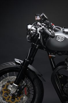 Darkly elegant and clean as a whistle, Deus Ex Machina is proud to introduce a frisky cafe racer from Woolie's Workshop. Stamped as the 17th bespoke creation to come from the Emporium Of Postmodern Activites in... More