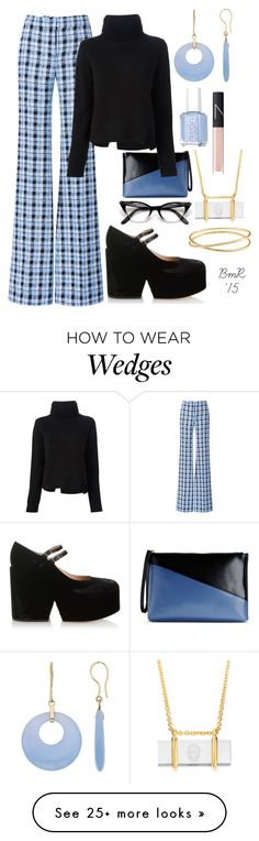 """Nerd Chic"" by barbmama on Polyvore featuring Derek Lam, Marni, Proenza Schouler, Mary Katrantzou, Essie, NARS Cosmetics and Alexander McQueen"