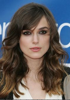 Keira Knightly pretty waves and bangs