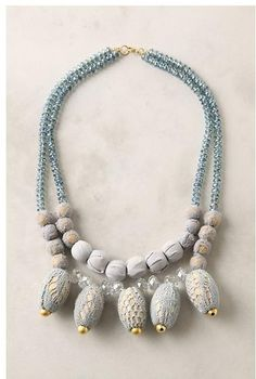 Anthropologie Obscured Orbs Necklace