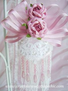 Double Rose Victorian Ornament