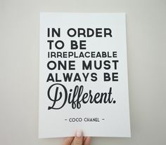 Art Print Coco Chanel Quote Always Be by SacredandProfane on Etsy