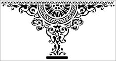 Victorian stencils from The Stencil Library. Stencil catalogue easy view page Damask Stencil, Stencil Patterns, Stencil Painting, Stencil Designs, Stenciling, Border Pattern, Border Design, India Pattern, Art Template