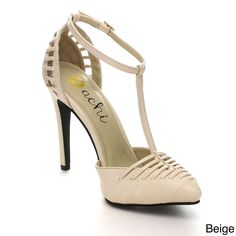 Machi Finder-2 Women Ankle T-Strap Pointy Toe Prom Party Pump | Overstock.com Shopping - The Best Deals on Heels
