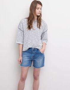 Pull&Bear - mulher - bermudas e shorts - calções de ganga - azul escuro - 05693203-V2015