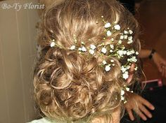 Baby's Breath accent for hair.