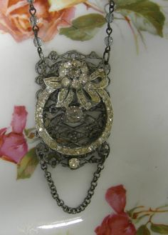 Repurposed Dainty Rhinestone Assemblage Necklace by Vintagearts, $65.00
