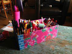boite de rangement feutres et crayons de couleurs