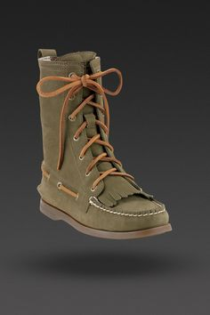 28600e6592bb Sperry Women s Addison Boot in Olive Sperry Boat Shoes